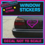 BABY ON BOARD NEW MUM CAR WINDOW VINYL STICKER DECAL GRAPHICS